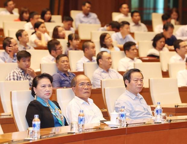 国会主席阮氏金银出席关于孙德胜主席生平和事业的专题研讨会 hinh anh 1
