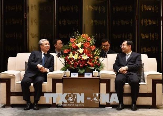 越南共产党代表团访问中国陕西省 hinh anh 1