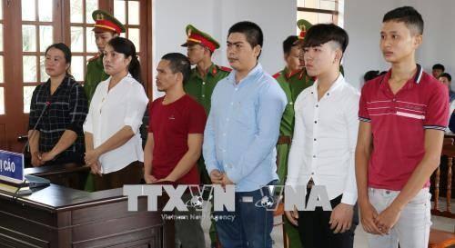 宁顺省依法严惩扰乱公共秩序的6名被告人 hinh anh 1