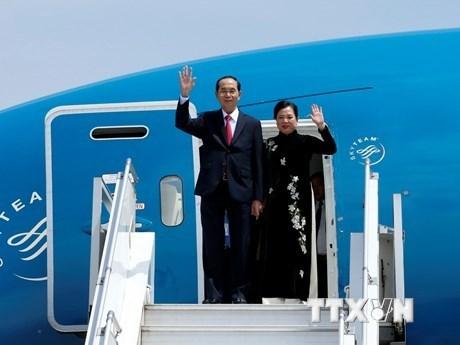 越南国家主席陈大光开始对埃塞俄比亚进行国事访问 hinh anh 1