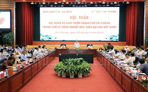 海防市力争建设成为东南亚的文明、现代化、智慧、繁荣、宜居的绿色港市 hinh anh 1