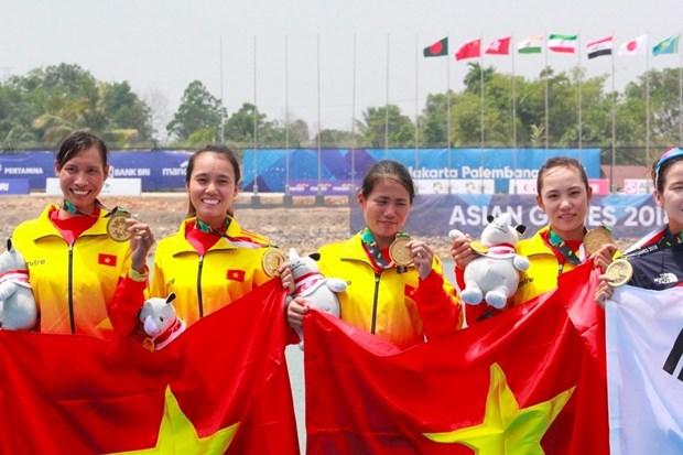 越南体育代表团团长:赛艇首枚金牌将为越南运动员缓解压力 hinh anh 1