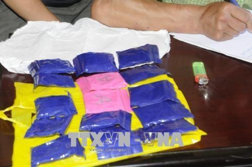 乂安省边防部队抓获一起涉嫌运输合成毒品的老挝犯罪嫌疑人 hinh anh 2