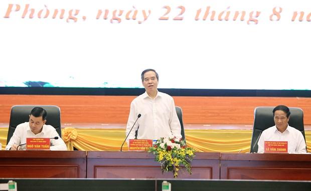 海防市力争建设成为东南亚的文明、现代化、智慧、繁荣、宜居的绿色港市 hinh anh 2