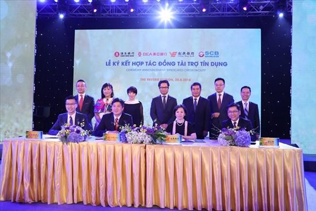 越南西贡商业银行与香港三家银行签署合作协议 hinh anh 1