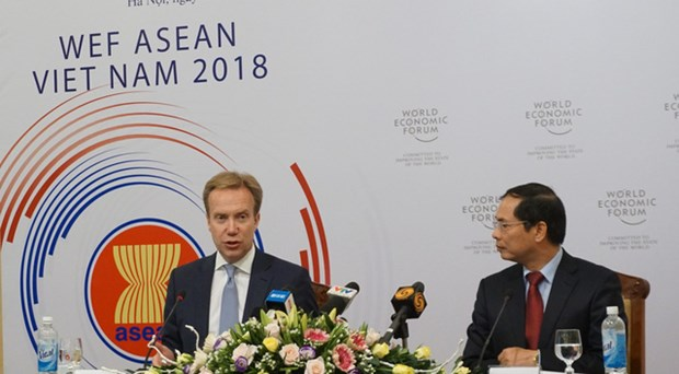 WEF ASEAN 2018: 越南迎接各实地考察团 hinh anh 1