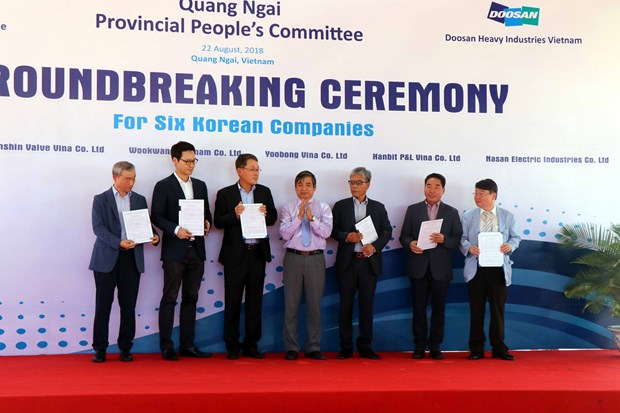 六家韩国企业在广义省榕桔经济区投资兴业 hinh anh 1