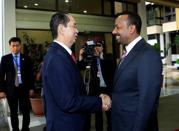 国家主席陈大光会见埃塞俄比亚总理阿比·艾哈迈德 hinh anh 1