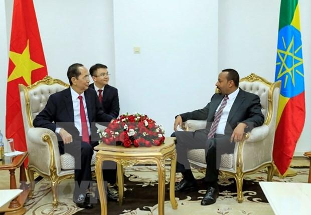 国家主席陈大光会见埃塞俄比亚总理阿比·艾哈迈德 hinh anh 2