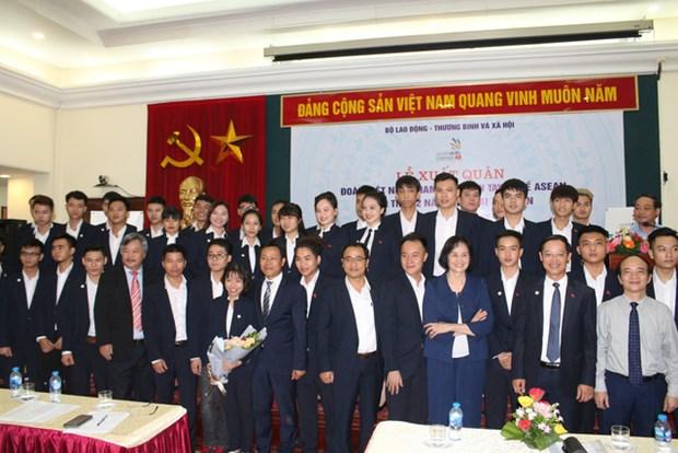 越南代表团出征第12届东盟职业技术比赛 hinh anh 1