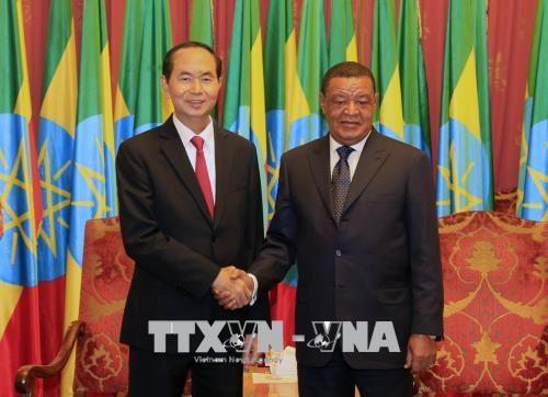 越南国家主席陈大光圆满结束对埃塞进行的国事访问 hinh anh 1