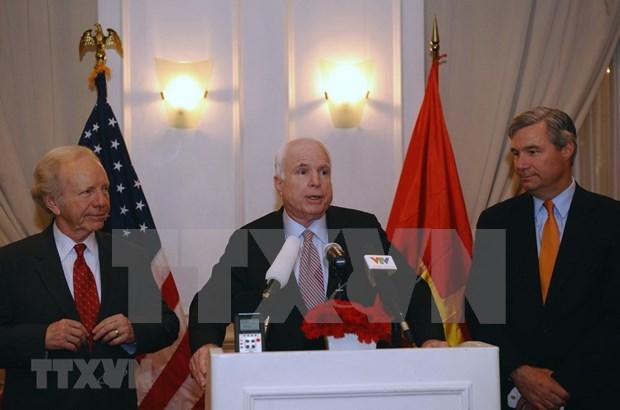 美国驻越南大使馆设麦凯恩吊唁簿 hinh anh 1