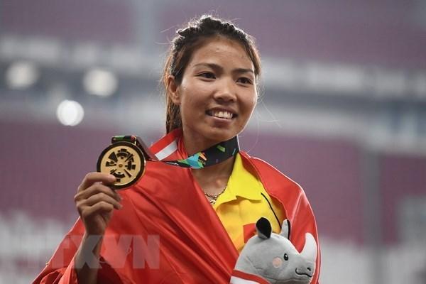 ASIAD 2018: 越南摘下历史上首枚田径金牌 hinh anh 1
