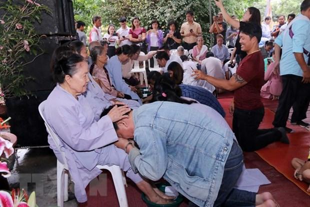旅外越南侨胞纷纷举行盂兰节超度法会 hinh anh 1