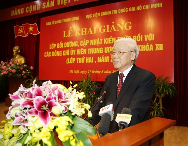 越共第十二届中央委员会委员更新知识班(第二期)开班 hinh anh 2