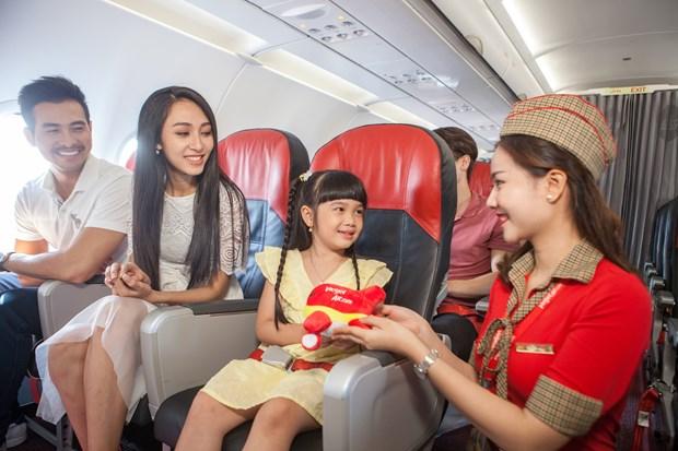 越捷出售越南河内至日本东京直达航线的250万张零越盾起的机票 hinh anh 3