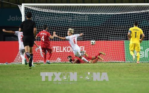 ASIAD 2018:韩国媒体赞美越南国奥队第五场胜利 hinh anh 1