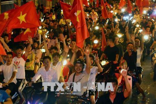 越南政府总理阮春福就越南国奥队取得历史性胜利给予表扬 hinh anh 1