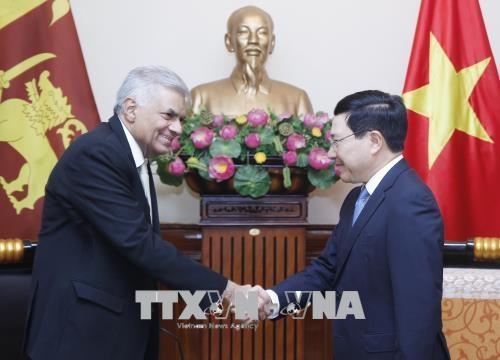 越南政府副总理兼外交部长范平明会见斯里兰卡总理拉尼尔•维克勒马辛哈 hinh anh 1