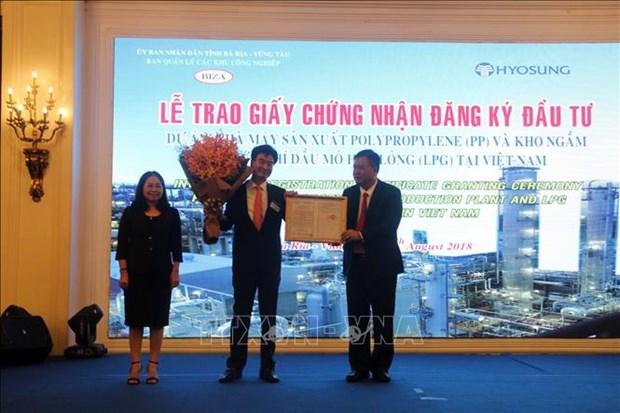 韩国在巴地头顿省开展价值12亿美元的项目 hinh anh 1