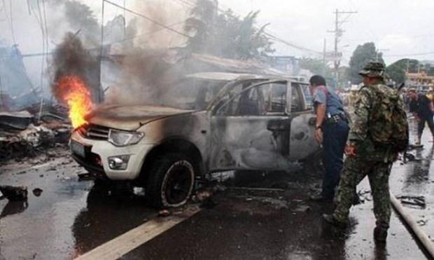 菲南部炸弹袭击造成至少35人伤亡 hinh anh 1