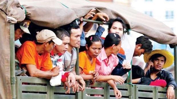 泰国警方抓获非法入境务工的数千名外籍人员 hinh anh 1
