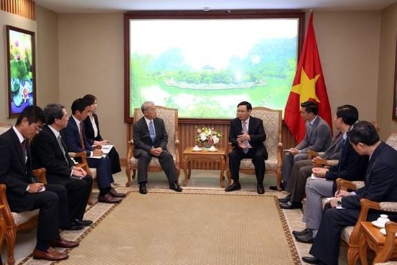 政府副总理王廷惠会见三菱集团执行副总裁 hinh anh 1