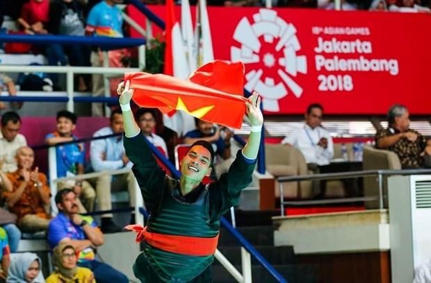 ASIAD 2018:越南体育代表团摘得第四枚金牌 完成金牌奖牌数预定目标 hinh anh 1
