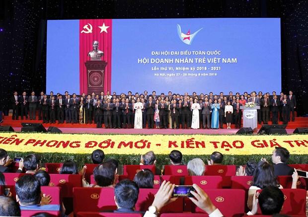 2018-2021年任期越南青年企业家协会第六届全国代表大会在河内召开 hinh anh 2