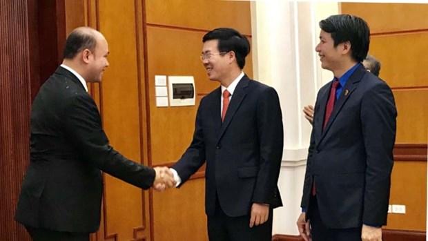 越共中央宣教部部长武文赏会见柬埔寨青年联合会高级代表团 hinh anh 1