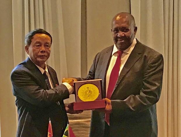 越南国会国防安全委员会代表团访问南非 hinh anh 1