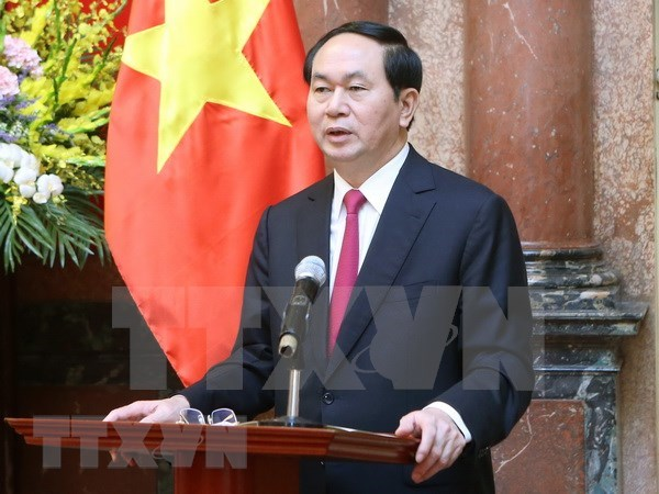 越南领导人致电祝贺越埃建交55周年 hinh anh 1