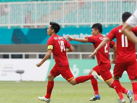 ASIAD 2018男足季军赛:越南国奥队无缘季军 hinh anh 1