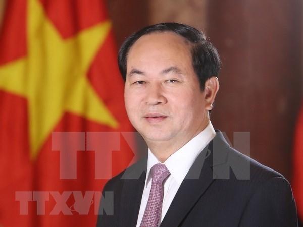 越南国家主席陈大光向第39届东盟议会联盟大会致贺信 hinh anh 1