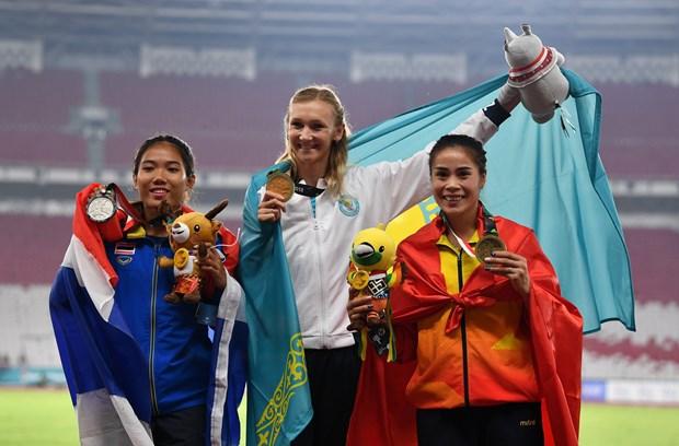 雅加达亚运会最后比赛日:越南在奖牌榜上排名第17位 hinh anh 1