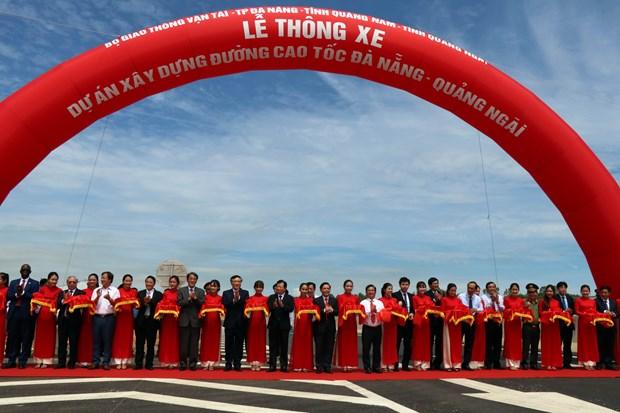 岘港至广义高速公路建成通车 全长130多公里 hinh anh 1