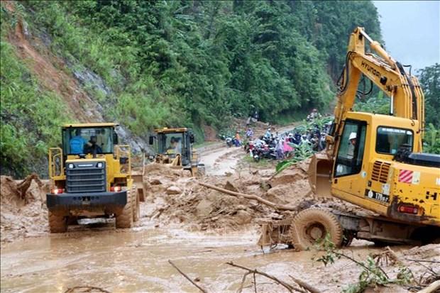 莱州遭特大暴雨洪水 导致2人死亡 多条公路受阻 hinh anh 1