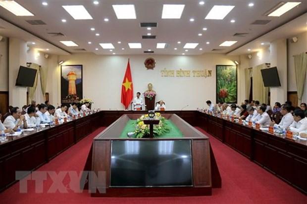 越共中央宣教部部长:平顺省应解决好引起民众不满的问题 hinh anh 1