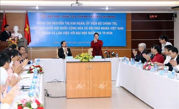 国会主席阮氏金银:胡志明市国家大学城为越南青年公民提供示范性的高等教育环境 hinh anh 1