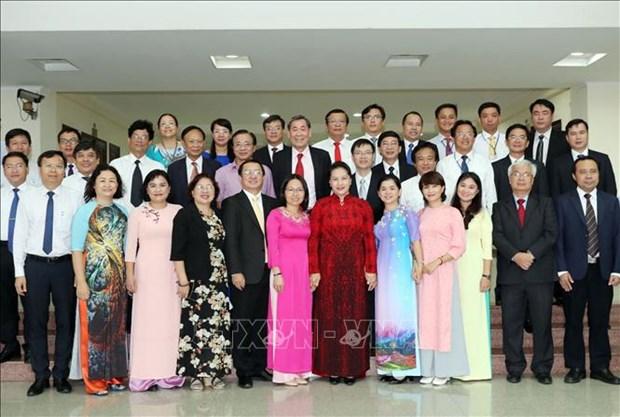 国会主席阮氏金银:胡志明市国家大学城为越南青年公民提供示范性的高等教育环境 hinh anh 2