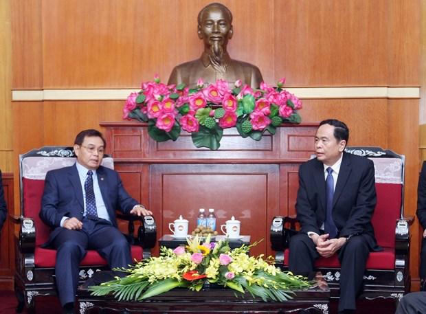 越南祖国阵线与老挝建国阵线的合作关系不断走向深入 hinh anh 2