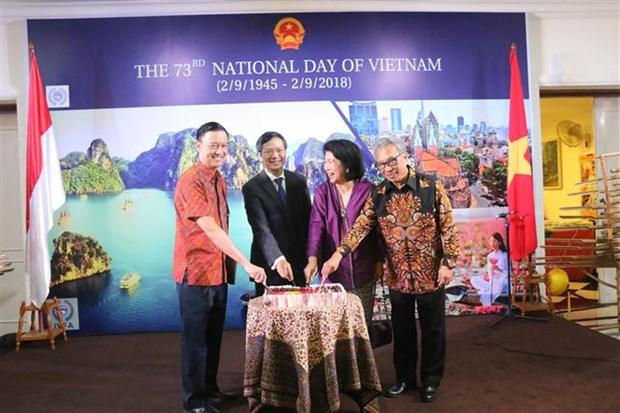 越南驻印度尼西亚大使馆举行国庆庆祝活动 hinh anh 1