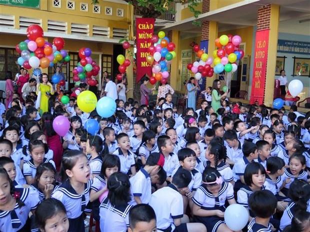 越南全国2300万名学生迎来开学典礼 hinh anh 1