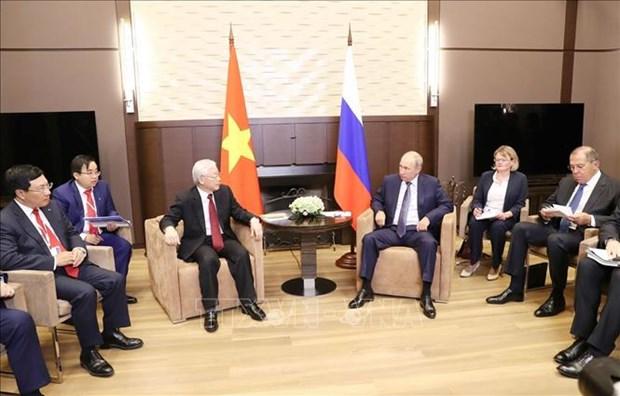 越共中央总书记阮富仲与俄罗斯总统普京举行会谈 hinh anh 2