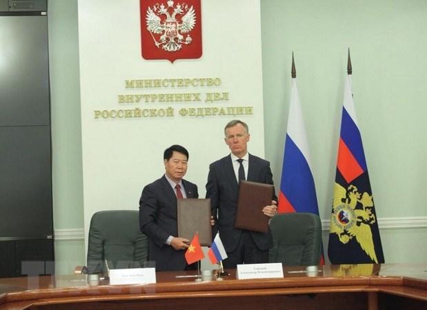 越南公安部与俄罗斯内务部加强合作 hinh anh 1