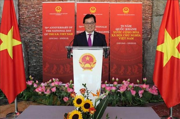 越南驻瑞士、智利、阿尔及利亚等国外交代表机构举行活动欢度国庆 hinh anh 1