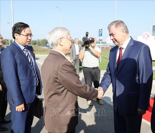 越共中央总书记阮富仲访问俄罗斯卡卢加州 hinh anh 1