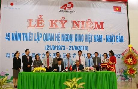 越南与日本建交45周年纪念典礼在永隆省举行 hinh anh 1