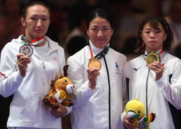 ASIAD 2018:蒙古失摔跤金牌 越南体育代表团最终位居16位 hinh anh 1