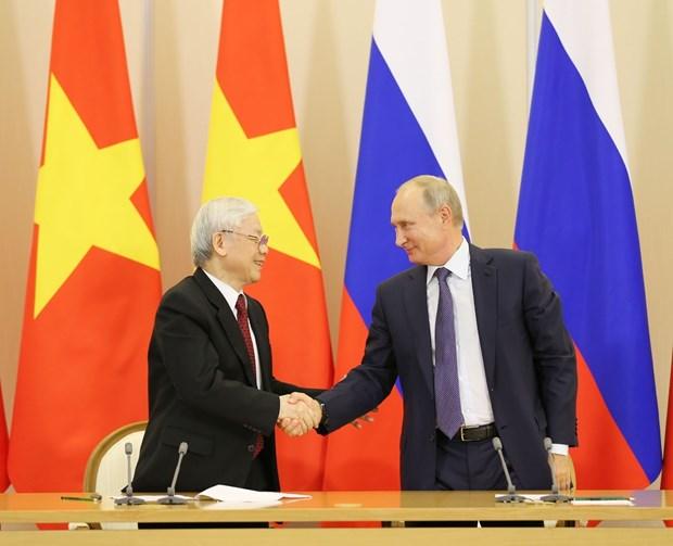 越南与俄罗斯签署多项合作文件 hinh anh 1